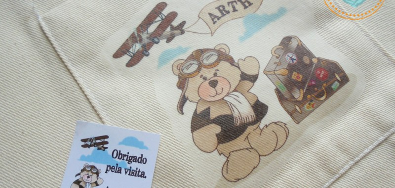 Sacola Ecológica do Urso Aviador
